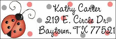 ~CUTE LADYBUG & POKKA DOTS~  Lazer  Address Labels!