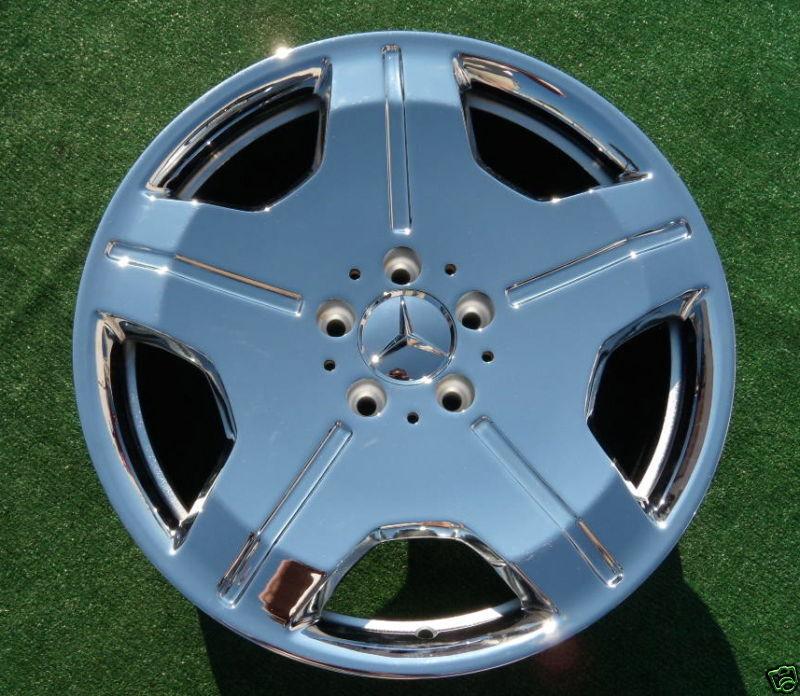 Set NEW Chrome OEM Factory Mercedes Benz CL600 18 inch WHEELS CL550