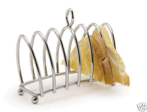 Kitchen Craft Chrome Plated Six Slice Toast Rack - KCTOAST