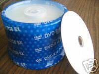 50PCS PRODISC DVD-R WHITE INKJET PRINTABLE IN HUB 8X