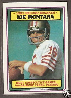 1983 Topps #4 Joe Montana RB San Francisco 49ers NRMT+
