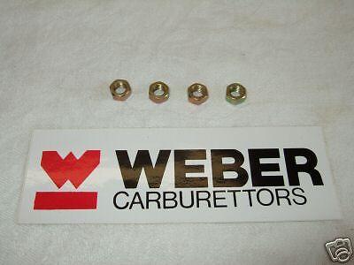 WEBER 40.45 DCOE CARB//CARBURETTOR RAMPIPE//AIRHORN STUD NUTS SET OF 4