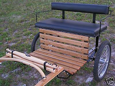 Miniature~Mini Horse & Miniature Donkey Oak Easy Entry Cart PLUS...BONUS COVER!