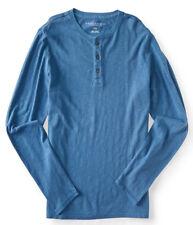 aeropostale mens long sleeve surf wash henley shirt