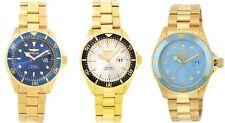 Invicta Pro Diver Men's 43mm Gold Watch with Quartz Movement