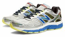 New Balance Mens 860v4 Stability Running Shoes Silver with Blue & Yellow