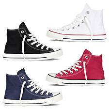 Scarpe Da Ginnastica Uomo Donna Sneakers Alte Casual Comode Tela Vari Colori