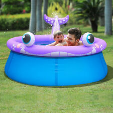 Large Inflatable Garden Swimming Pool with Spray Sprinkler System