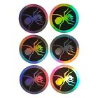 The Prodigy Circle Ant Logo 7 cm hologram sticker 6 pcs